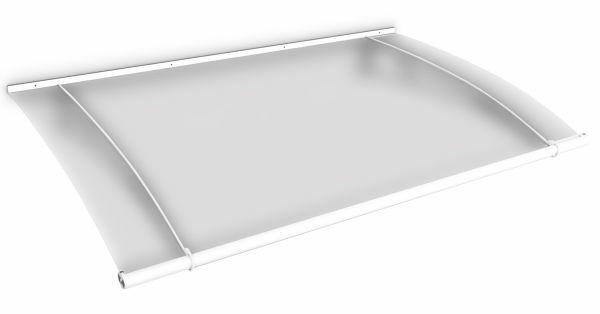 Auvent marquise de porte LT-Line 150 x 95 cm, opaque, fixation blanche