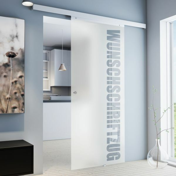 Porte intérieure coulissante, 88 x 203 cm, porte à lettrage personnalisé