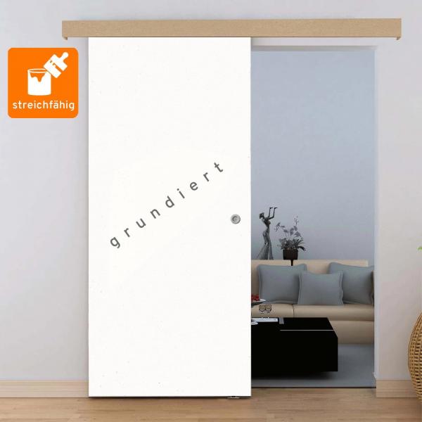 Porte intérieure coulissante 90 x 206 cm, à peindre ou décorer soi-même