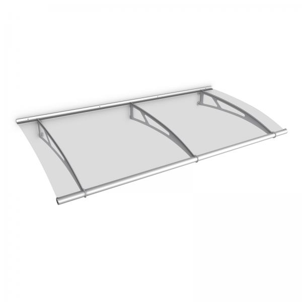 Auvent marquise de porte LT-Line 190 x 95 cm, transparent, fixation inox