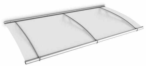 Auvent marquise de porte LT-Line 200 x 95 cm, opaque, fixation inox