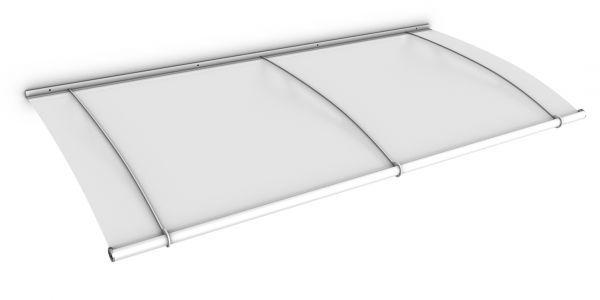 Auvent marquise de porte LT-Line 190 x 95 cm, opaque, fixation blanche
