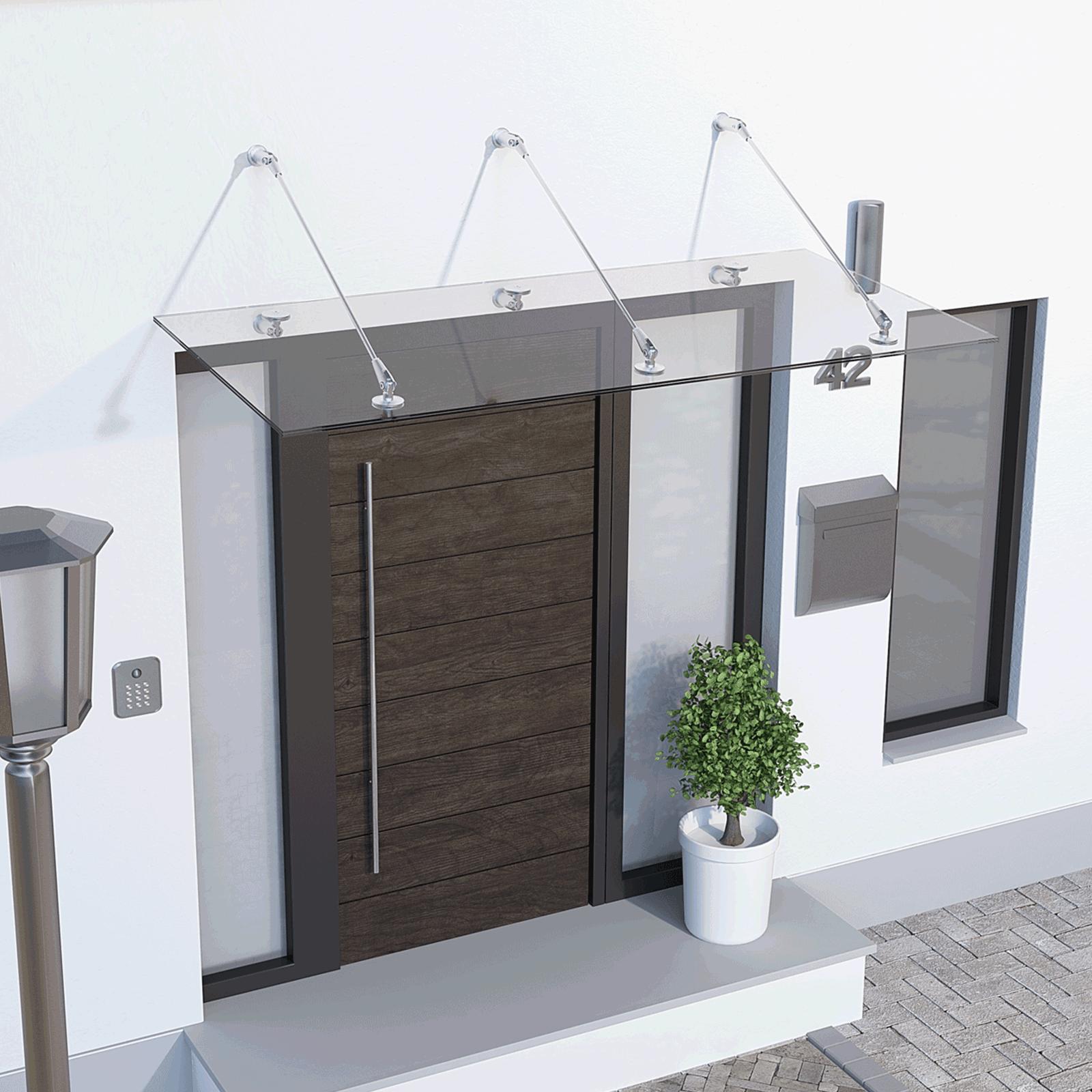 auvents et marquises de porte standard ou sur mesure inova maison inova maison. Black Bedroom Furniture Sets. Home Design Ideas