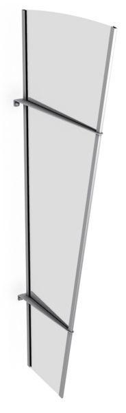 Élément latéral pour auvent marquise de porte LT-Line, 167 x 62 cm, transparent