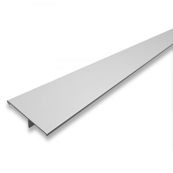 Cache pour rail de porte coulissante, 181 x 6 cm, aluminium