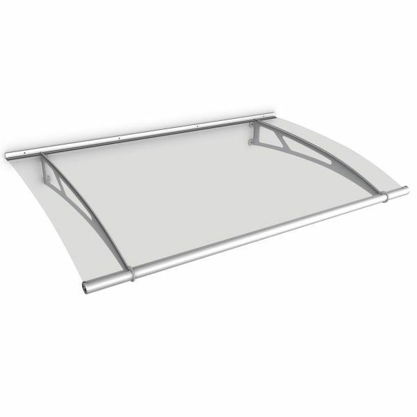 Auvent marquise de porte LT-Line 150 x 95 cm, transparent, fixation inox