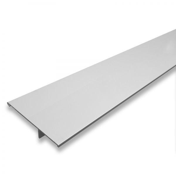 Cache pour rail de porte coulissante, 181 x 11,5 cm, aluminium