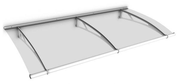 Auvent marquise de porte LT-Line 190 x 95 cm, transparent, fixation blanche