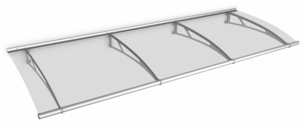Auvent marquise de porte LT-Line 270 x 95 cm, transparent, fixation inox