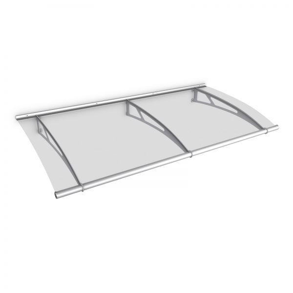 Auvent marquise de porte LT-Line 200 x 95 cm, transparent, fixation inox V2A et V4A