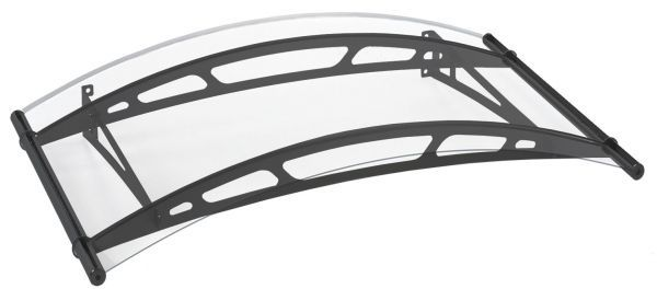 Auvent marquise de porte LT-Line 148 x 91 cm, transparent, fixation acier anthracite