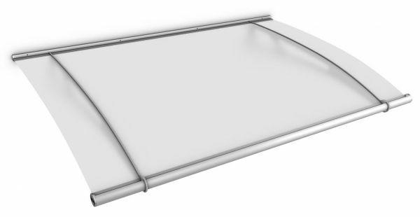 Auvent marquise de porte XL 205 x 142 cm, opaque, fixations inox
