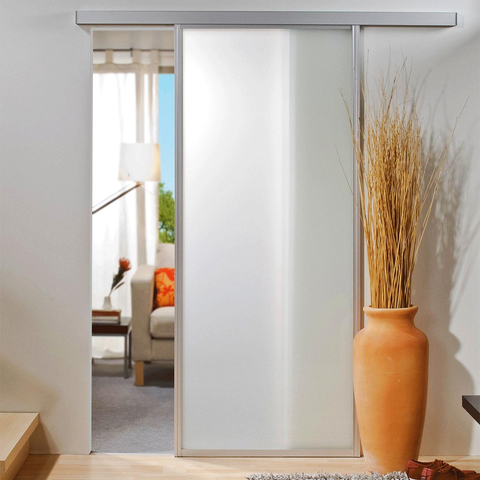 porte int rieure coulissante en verre 86 x 203 cm inova maison. Black Bedroom Furniture Sets. Home Design Ideas