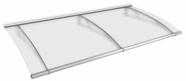 Auvent marquise de porte LT-Line 287 x 142 cm, opaque, fixation inox brossé mat