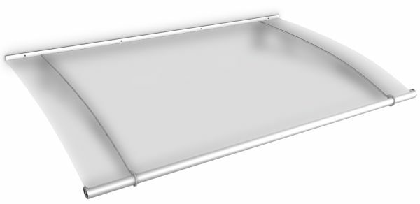 Auvent marquise de porte LT-Line 150 x 95 cm, opaque, fixation inox