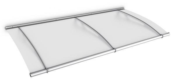 Auvent marquise de porte LT-Line 190 x 95 cm, opaque, fixation inox